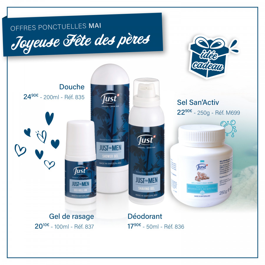 JUST for MEN revient